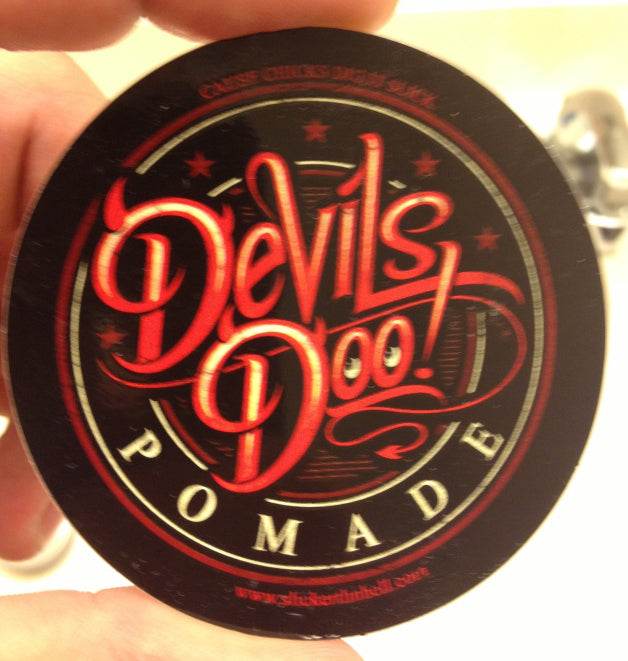 Slicker Thn Hell Devils Doo Pomade top label