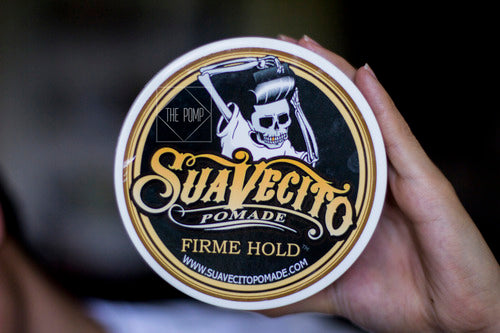 Suavecito Firme Hold Pomade top label