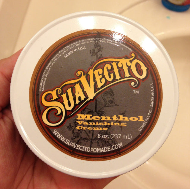 Suavecito Menthol Vanishing Cream top label