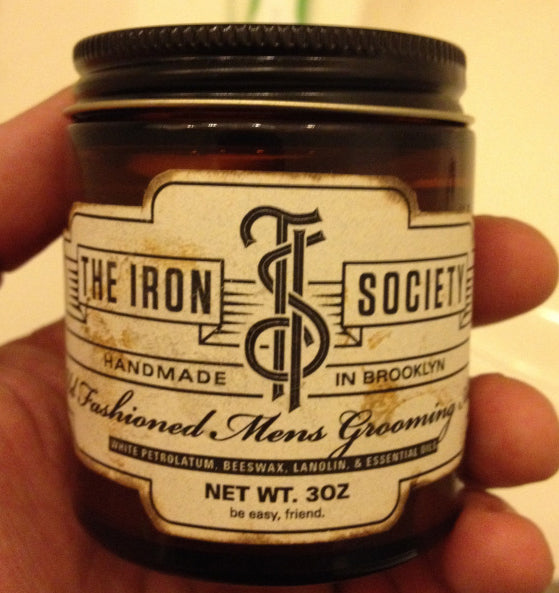 The Iron Society Old Fashioned Grooming Aid front label