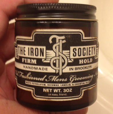 The Iron Society Firm Hold front label