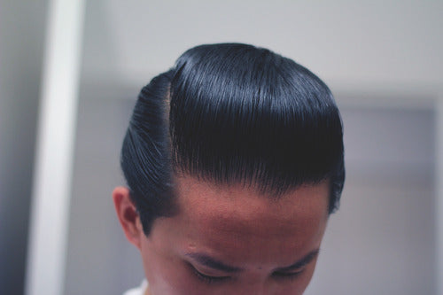 The Pomp - Hair styled with Goon Grease Pomade