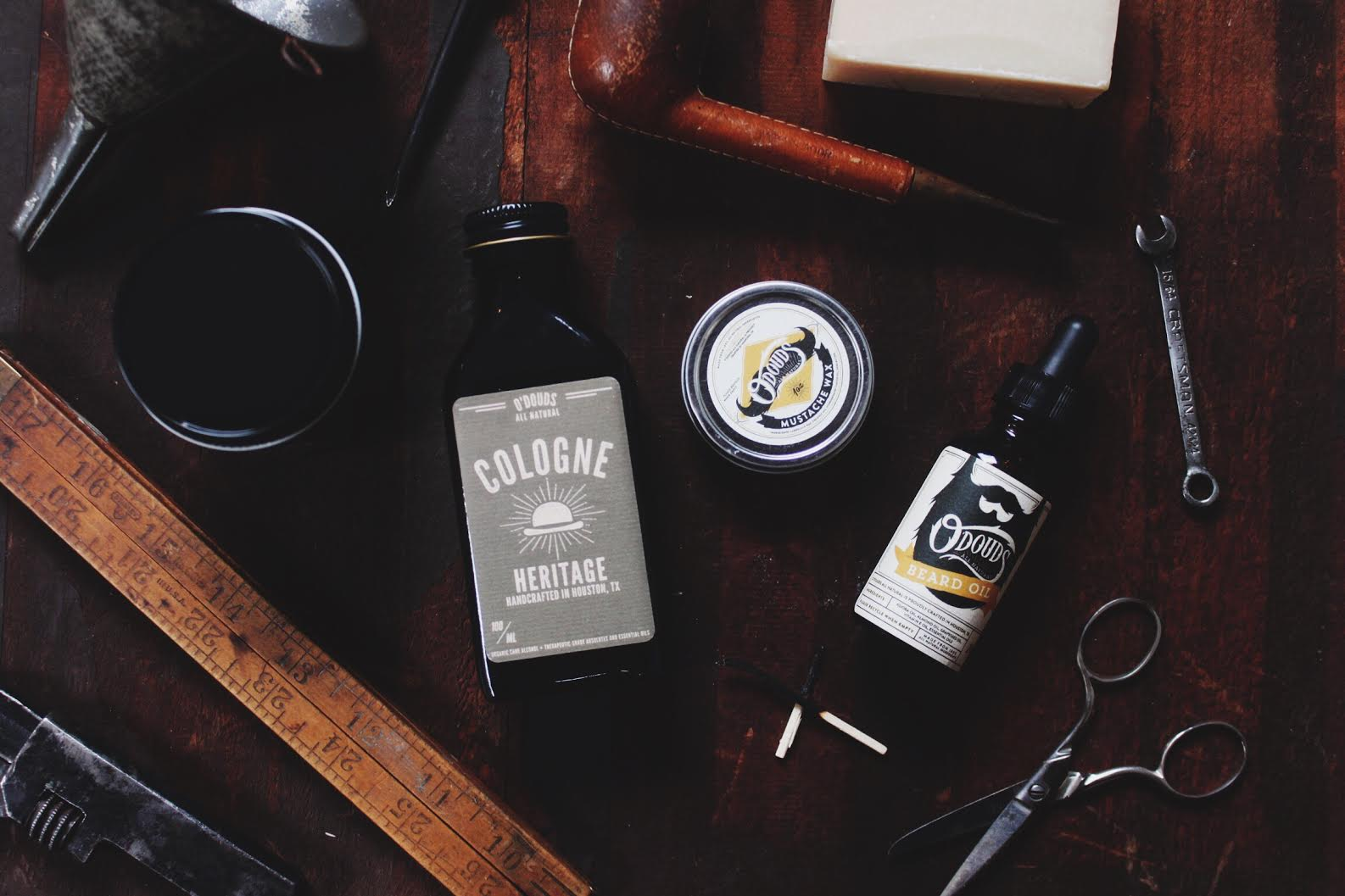picture of O douds cologne and moustache wax