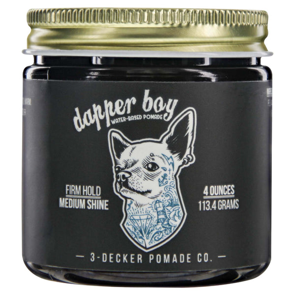 3 Decker Dapper Boy Water Based Pomade Front