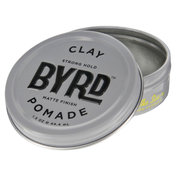 Byrd Clay Pomade 1.5oz Open