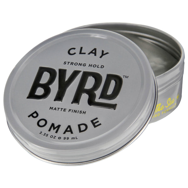 Byrd Clay Pomade 3oz Open