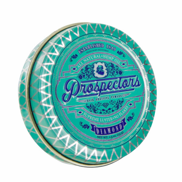 Prospectors Diamond Pomade 1.3  ounce tin jar - Front view