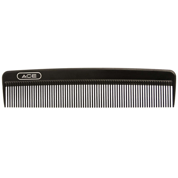 A good solid comb for side parts, slicks backs and pompadours.