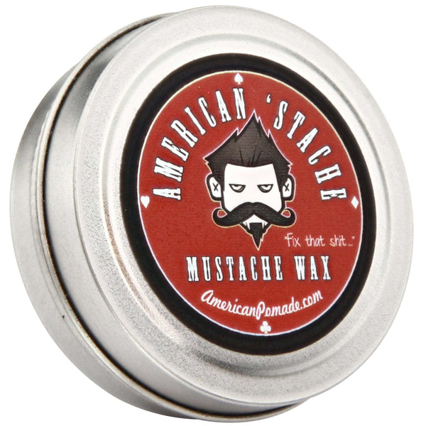 American Pomade Stache Wax Top Label
