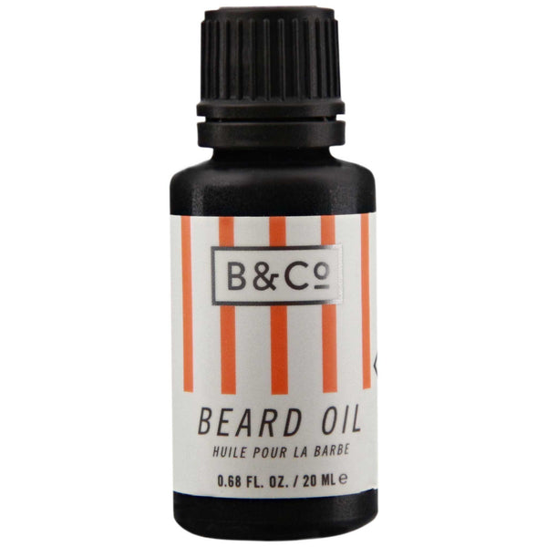 Barber & Co. Beard Oil Side Label