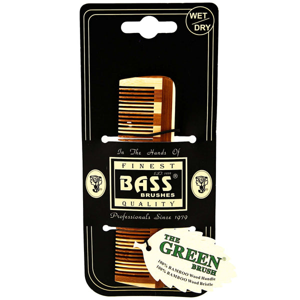 bass small wood comb packaging made from bamboo