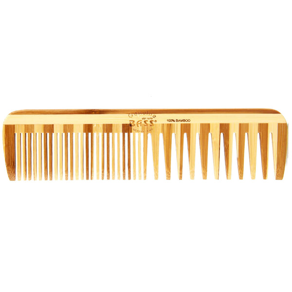 bamboo comb made by Bass for any hairstyle and hair type