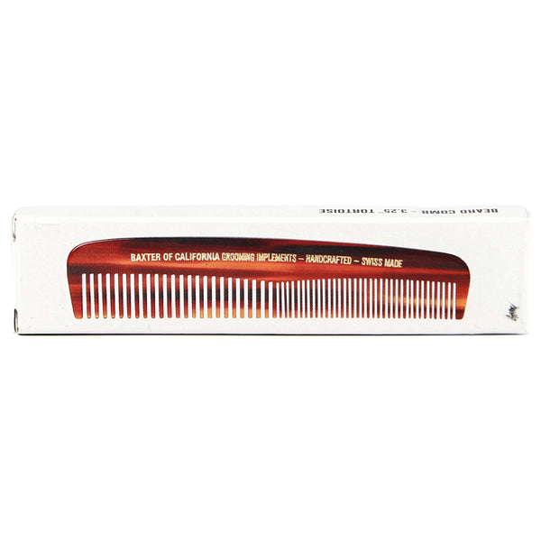 box of Baxter Beard Comb that is made in switzerland