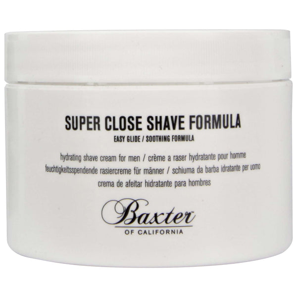 Baxter Super Close Shave Formula Side Label Coconut Derived Formula