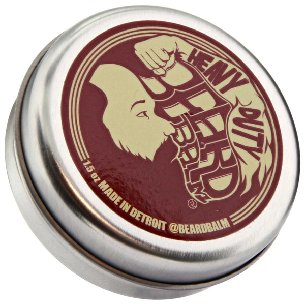 Beard Balm Heavy Duty Top Label