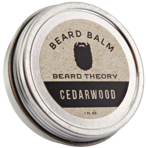 Beard Theory Cedarwood Beard Balm Top Label