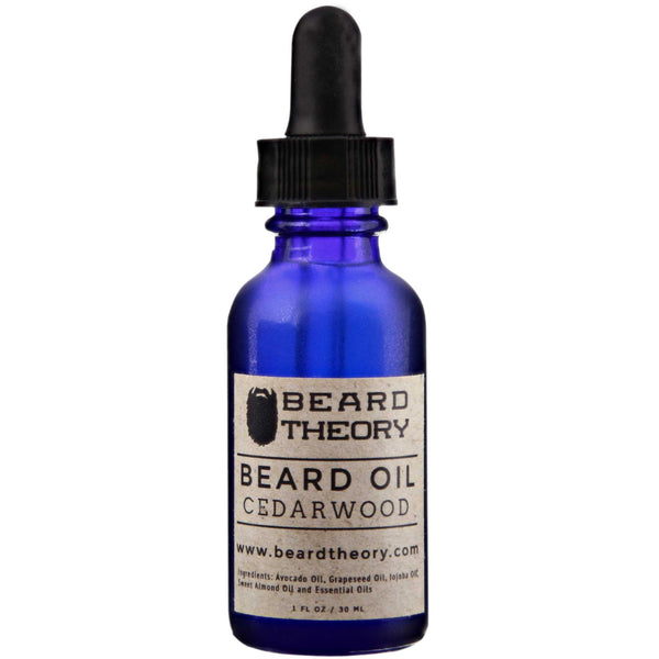 Beard Theory Cedarwood Beard Oil Front Label
