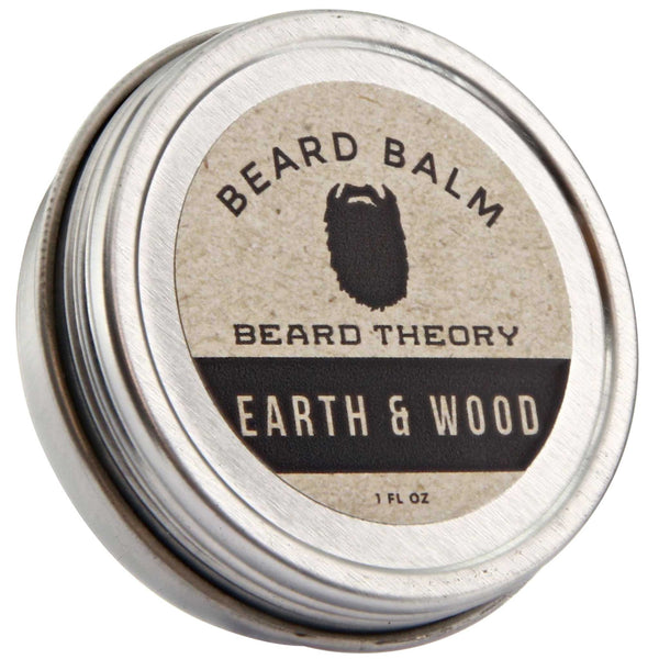 Beard Theory Earth & Wood Beard Balm Top Label
