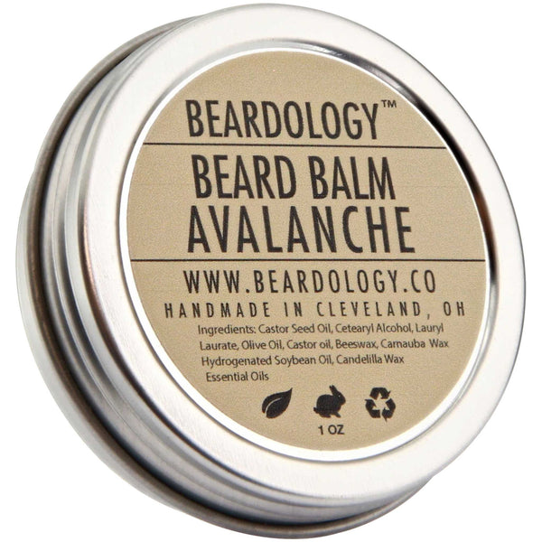 Beardology Avalanche Beard Balm Top Label