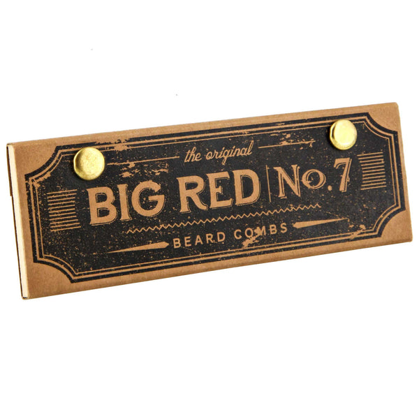 Big Red Comb No. 7 packaging and box for travel comb