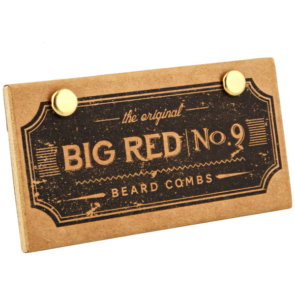 Big Red Comb No. 9 packaging and box beard comb