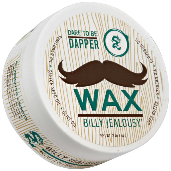 Billy Jealousy Mustache Fiber Wax Top Label