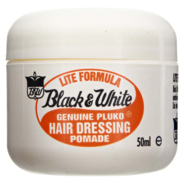 Black & White Genuine Pluko Lite Hair Dressing Pomade 2 oz
