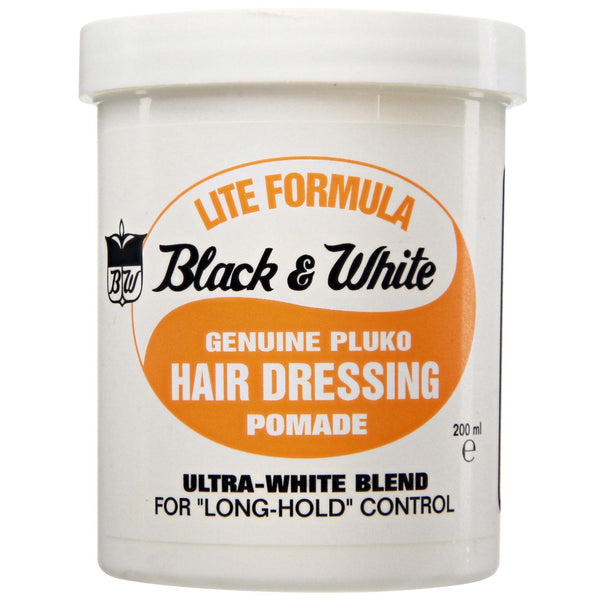 Black & White Genuine Pluko Lite Hair Dressing Pomade