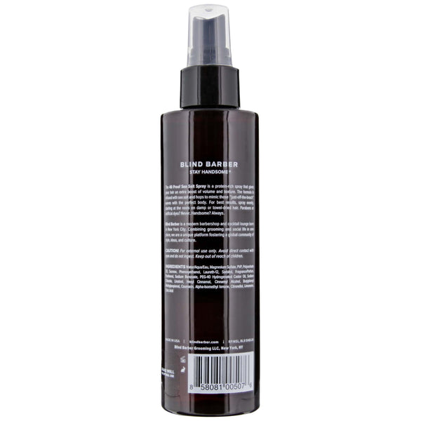 Blind Barber 40 Proof Sea Salt Spray- back