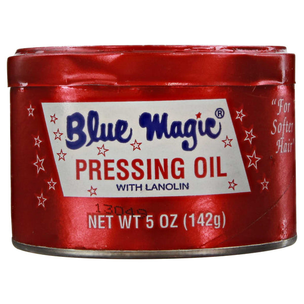 Blue Magic Pressing Oil Side