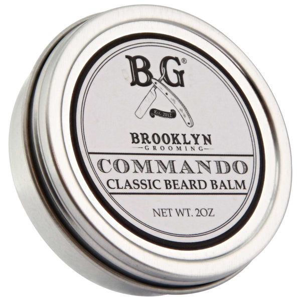 Brooklyn Grooming Commando Beard Balm Top Label