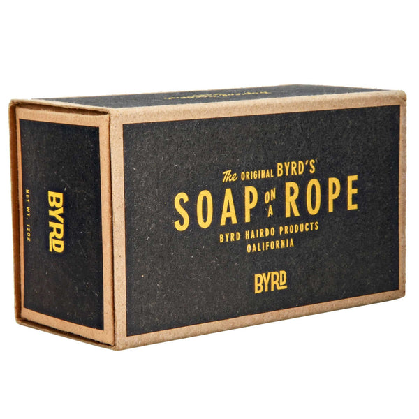 Byrd Soap on a Rope box and packaging