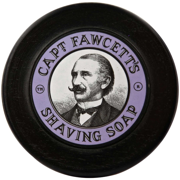 Captain Fawcett's Shaving Soap Top Label