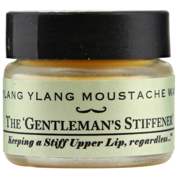 Captain Fawcett's Ylang Ylang Moustache Wax Side Label
