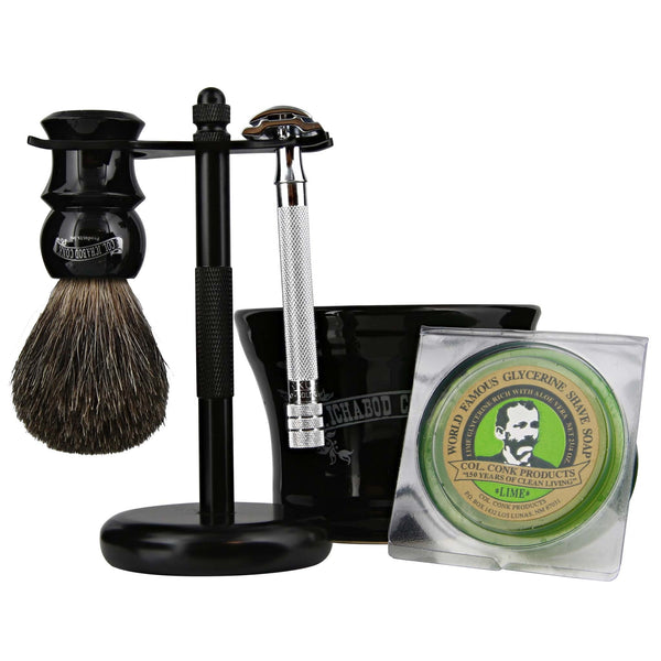 beginners kit of safety razor shaving