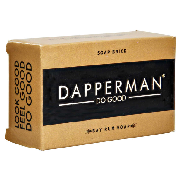 Dapper Man Bay Rum Soap box packaging