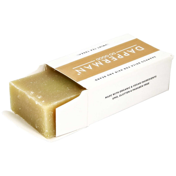 open box of Dapper Man Mint Tea Tree Soap