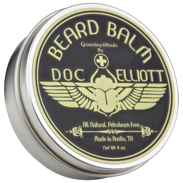 style and maintain beard health with doc elliott beard balm