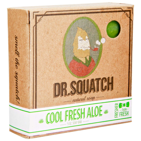 Dr. Squatch Cool Fresh Aloe Bar Soap with no harsh chemicals
