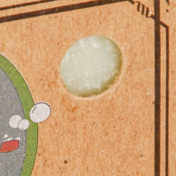 Close up shot of packaging of Dr. Squatch Spearmint Basil Scrub Bar Soap