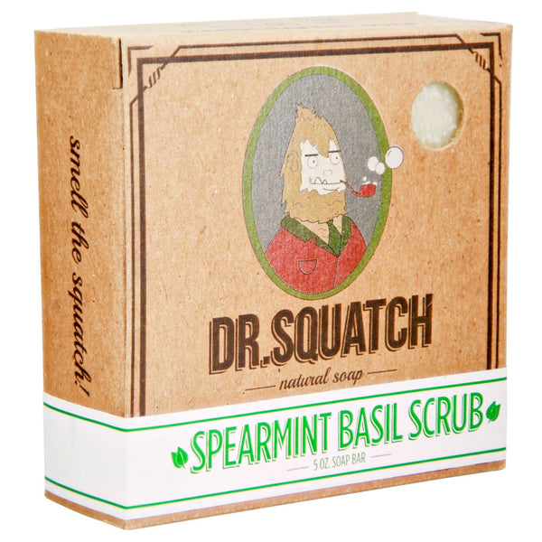 Dr. Squatch Spearmint Basil Scrub Bar Soap