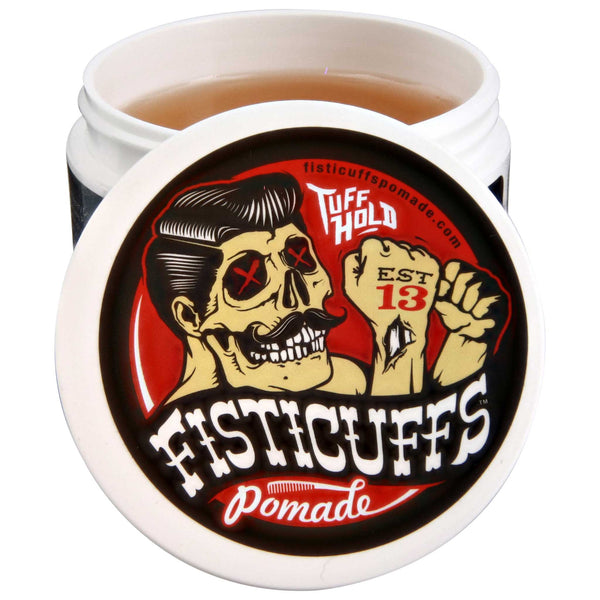 Fisticuffs Pomade Top open