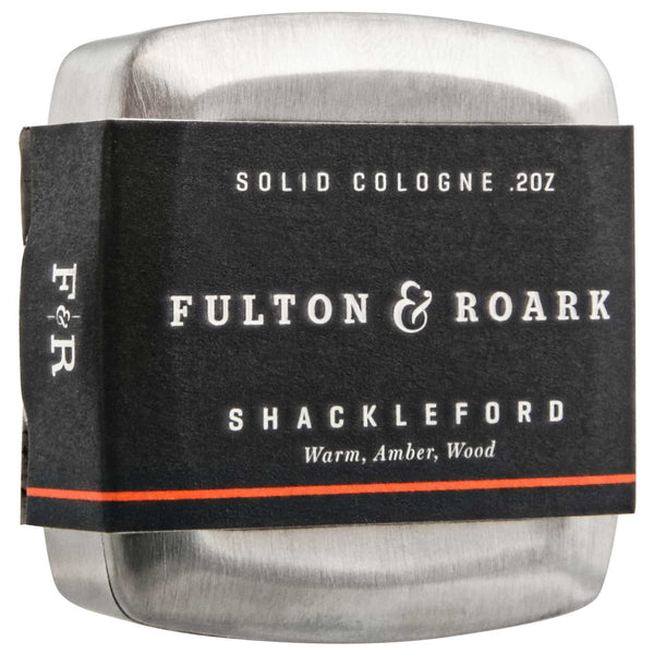 Fulton & Roark Shackleford Solid Cologne packaging