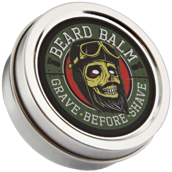 Grave Before Shave Beard Balm Top Label