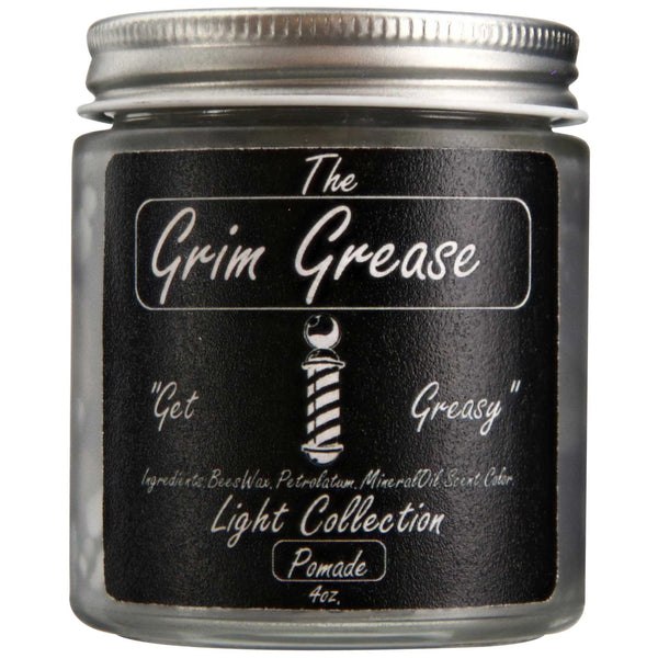Grim Grease Light Pomade Side Label