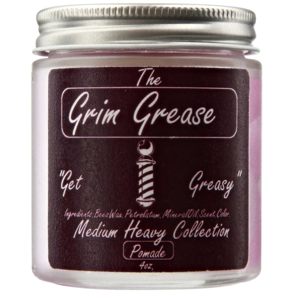 Grim Grease Medium Pomade Side Label