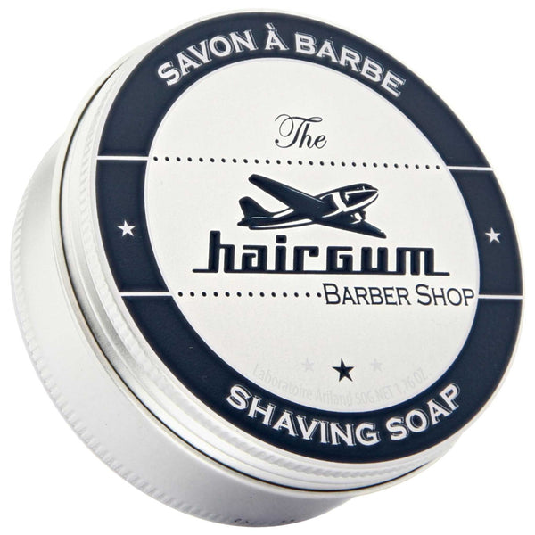 Hairgum Barber Shave Soap Top Label