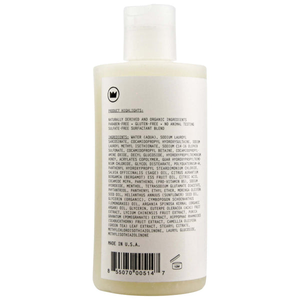 Ingredients List on bottle of Imperial Complete Hair & Body Wash