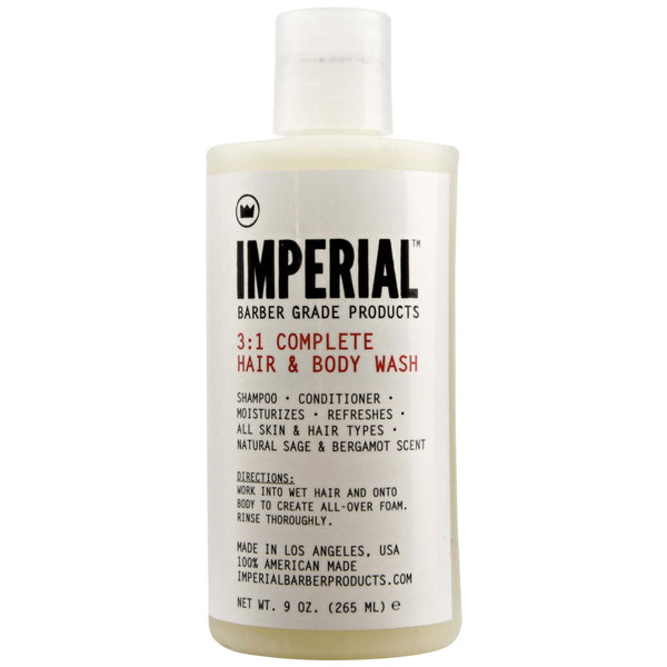 White Bottle of Imperial Complete Hair & Body Wash