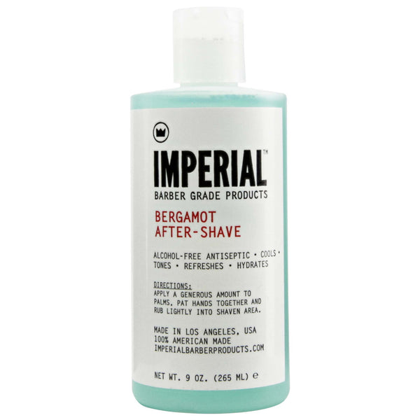 Bottle of great smelling Imperial bergamot after shave